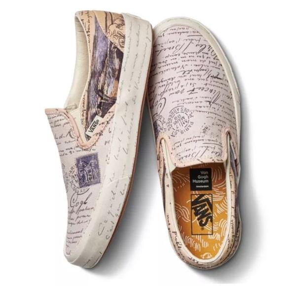 048448efec Vans Van Gogh The Letters Slip On Sneakers NWT